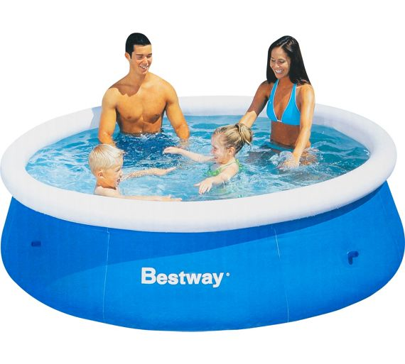 buy bestway quick up octagonal family pool 8ft blue at your online shop for. Black Bedroom Furniture Sets. Home Design Ideas