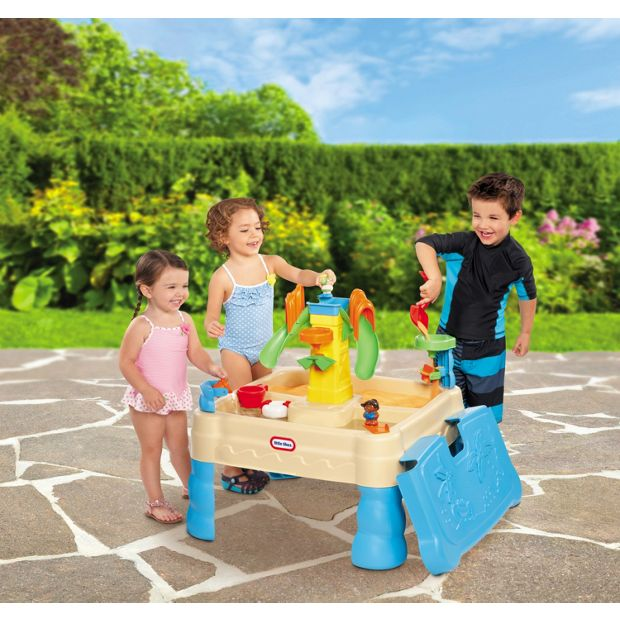 Buy little tikes bright 39 n 39 bold sand and water table at for Garden pool argos