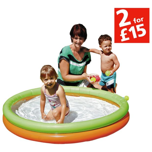 Buy chad valley 2 ring paddling pool multicoloured at for Garden pool argos