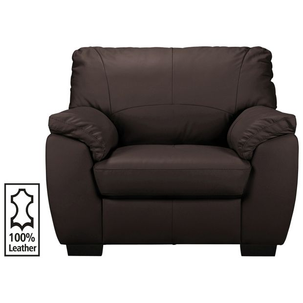 Buy Collection Milano Leather Chair Chocolate At Argos