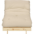 more details on ColourMatch Single Futon Sofa Bed w/ Mattress - Cotton Cream