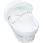 more details on Kinder Valley White Waffle White Wicker Moses Basket.