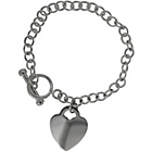 more details on Sterling Silver T Bar Chain Carrier with Heart Tag 19cm.