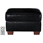 more details on Heart of House Salisbury Leather Footstool - Black.
