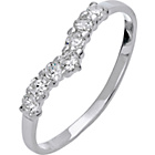 more details on Sterling Silver Cubic Zirconia Wishbone Ring - Size R.