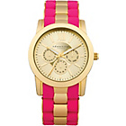 more details on Identity Ladies Gold and Pink Two Tone Bracelet Watch.