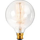 more details on Calex Vintage Squirrel Cage Filament Globe Clear Glass.