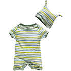 more details on French Connection Green Stripe Baby 2 piece Gift Set.