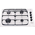 more details on Hotpoint G640SW Gas Hob - White/Ins/Del/Rec.