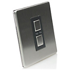 more details on Glow Single Light Switch - Stainless Steel
