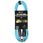 more details on Rockburn 10ft Guitar Lead - Blue.