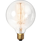 more details on Calex Vintage Squirrel Cage Globe Clear Glass Dimmable.