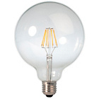 more details on Calex LED Filament 125mm Globe E27 4W Warm White Clear Glass