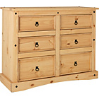 more details on Puerto Rico 3+3 Drawer Chest - Pine.