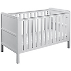 more details on Curve Nursery Cot Bed - White.