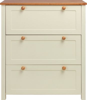 Classic Two-Tone Nursery Chest of Drawers - Pine