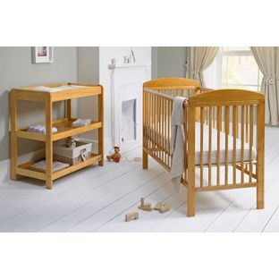 2-Piece Mamas & Papas Athena Cot and Changer Nursery Set