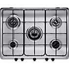 more details on Indesit PIM750ASTIX Gas Hob - Stainless Steel.