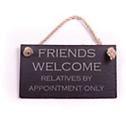 more details on Slate Hanging Sign - Friends Welcome.