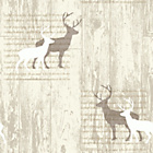 more details on Arthouse Stag Wallpaper - Cream.