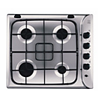 more details on Indesit PIM604ASIX Gas Hob - Stainless Steel/Ins/Del/Rec.