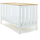 more details on Obaby York Cot Bed - White with Pine Trim.