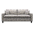 more details on Heart of House Newbury Large Fabric Floral Sofa - Grey.