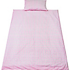 more details on Saplings Pink Gingham Cot Bed Duvet Cover Set.