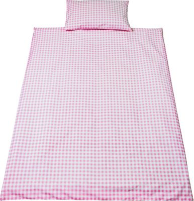 Buy Saplings Pink Gingham Cot Bed Duvet Cover Set At Argos