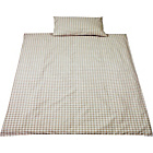 more details on Saplings Beige Gingham Duvet Cover and Pillowcase Set.