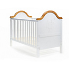more details on Obaby B is for Bear Cot Bed - White with Pine Trim.