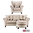 more details on Daisy Special Ed Corner Sofa Group and Chair - Cream/Orange.