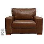 more details on Heart of House Eton Leather Cuddle Chair - Tan.