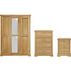 more details on Mendoza 3 Piece 3 Door Wardrobe Package - Oak Effect.