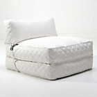 more details on Leader Lifestyle Big Chill Leather Effect Chair Bed - White.