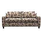 more details on Heart of House Newbury Large Fabric Floral Sofa - Chocolate.