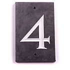 more details on House Nameplate Company Slate Number Plaque - 4.