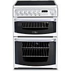 more details on Hotpoint CH60EKWS Dual Fuel Cooker - White.