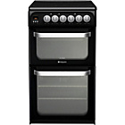 more details on Hotpoint HARE51KS Double Electric Cooker - Black/Ins/Del/Rec