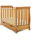 more details on Obaby Lincoln Mini Sleigh Cot Bed - Country Pine.