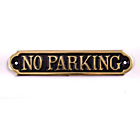more details on No Parking Brass Door Sign.