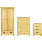 more details on Mendoza 3 Piece 2 Door Wardrobe Package - Pine.