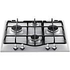 more details on Hotpoint GC641IX Gas Hob - Stainless Steel/Ins/Del/Rec.