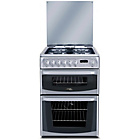 more details on Hotpoint CH60DHSFS Dual Fuel Cooker - Silver/Ins/Del/Rec.