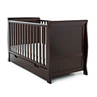 more details on Obaby Lincoln Sleigh Cot Bed - Walnut.