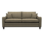 more details on Heart of House Newbury Large Fabric Check Sofa - Beige.