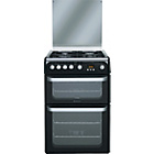 more details on Hotpoint Ultima HUG61K Freestanding Double Gas Cooker Black.