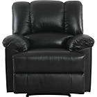 more details on Collection Diego Leather Recliner Chair - Black.