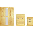 more details on Mendoza 3 Piece 3 Door Wardrobe Package - Pine Effect.