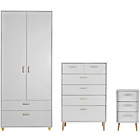 more details on Arvika 3 Piece 2 Door Wardrobe Package - White.